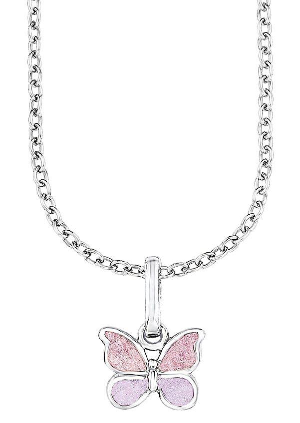 Silberkette, »Schmetterling, PLFS/47«, Prinzessin Lillifee in Silber 925/rosa