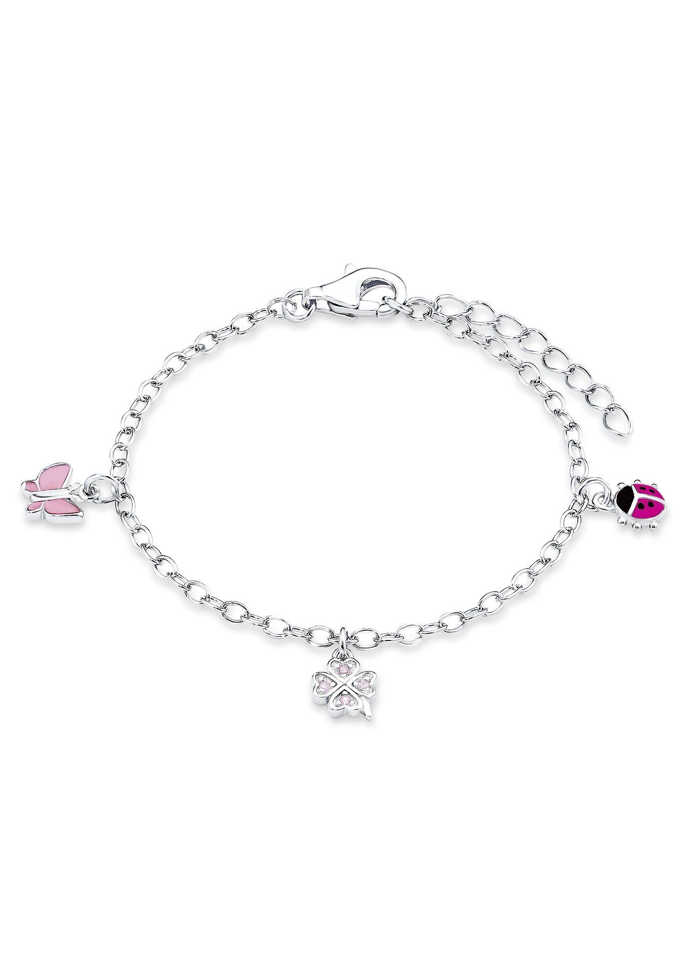 Armkette, »Schmetterling, Kleeblatt, Marienkäfer, PLFS/50«, Prinzessin Lillifee