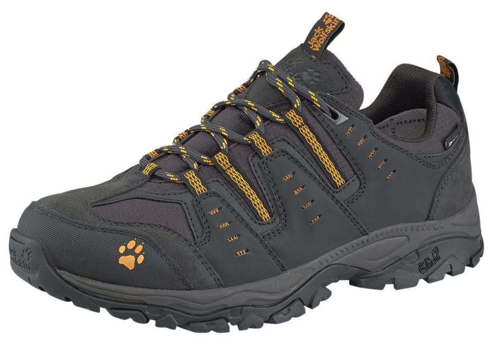 Jack Wolfskin »Mountain Storm Texapore M« Outdoorschuh in schwarz-gelb