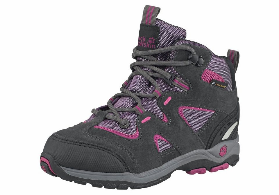 Jack Wolfskin All Terrain Outdoorschuh in Anthrazit-Pink