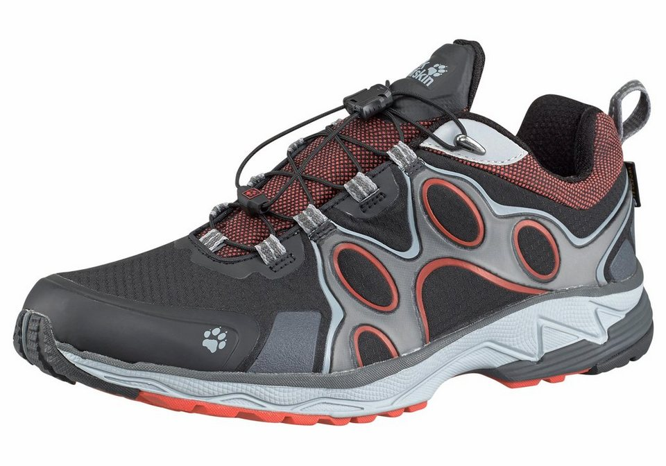 Jack Wolfskin Passion Trail Texapore Low M Laufschuh in Schwarz-Orange