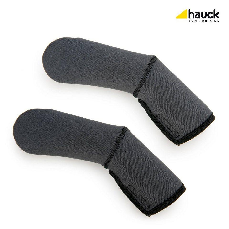 HAUCK 2er-Pack Griffschutz Handle me 2 für Kinderwagen und Buggy in grau
