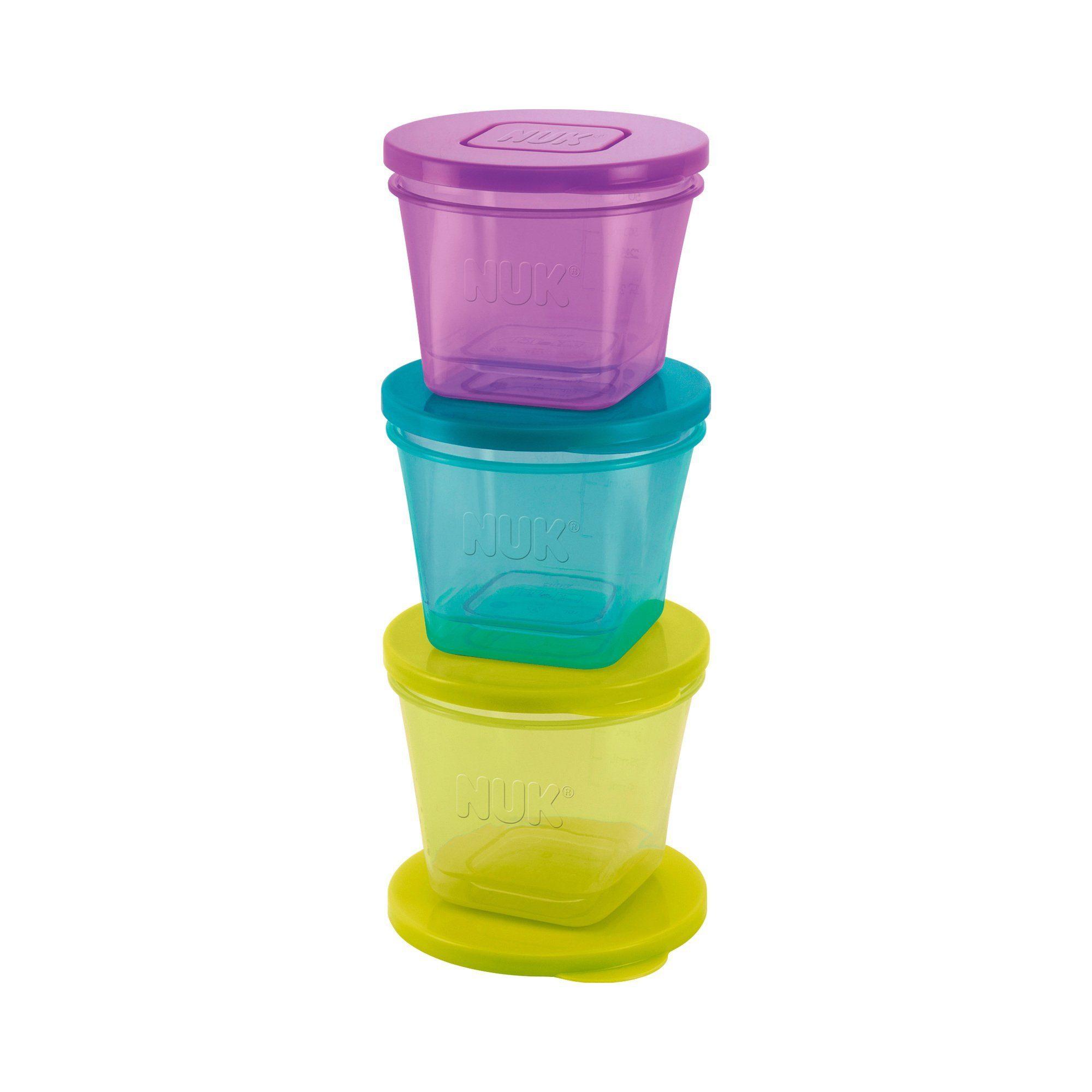 NUK 6tlg. Behälter-Set für Babynahrung Fresh Foods 65-85ml mit...