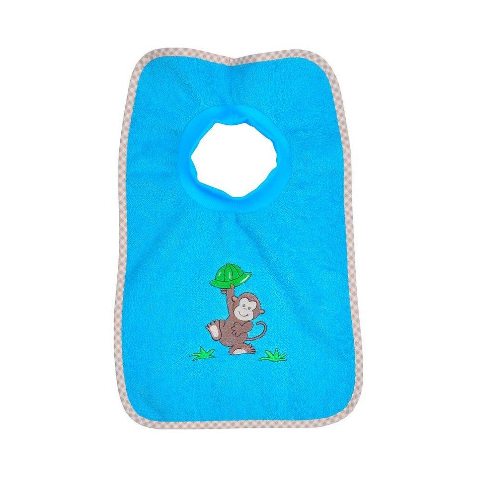 WÖRNER Schlupflätzchen Affe in blau