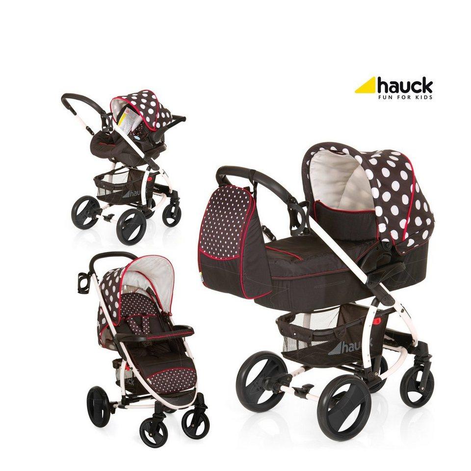 HAUCK Malibu XL Kombikinderwagen Trio-Set mit Wickeltasche Design... in schwarz