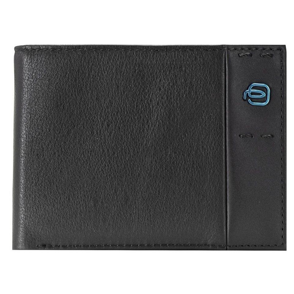 Piquadro Pulse Geldbörse Leder 13 cm in schwarz