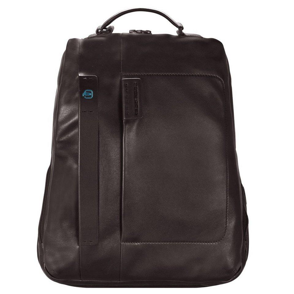 Piquadro Pulse Business Rucksack Leder 42 cm Laptopfach in schokolade