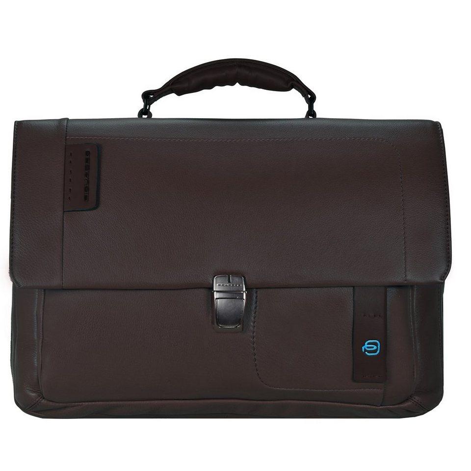 Piquadro Pulse Messenger Leder 41 cm Laptopfach in schoko