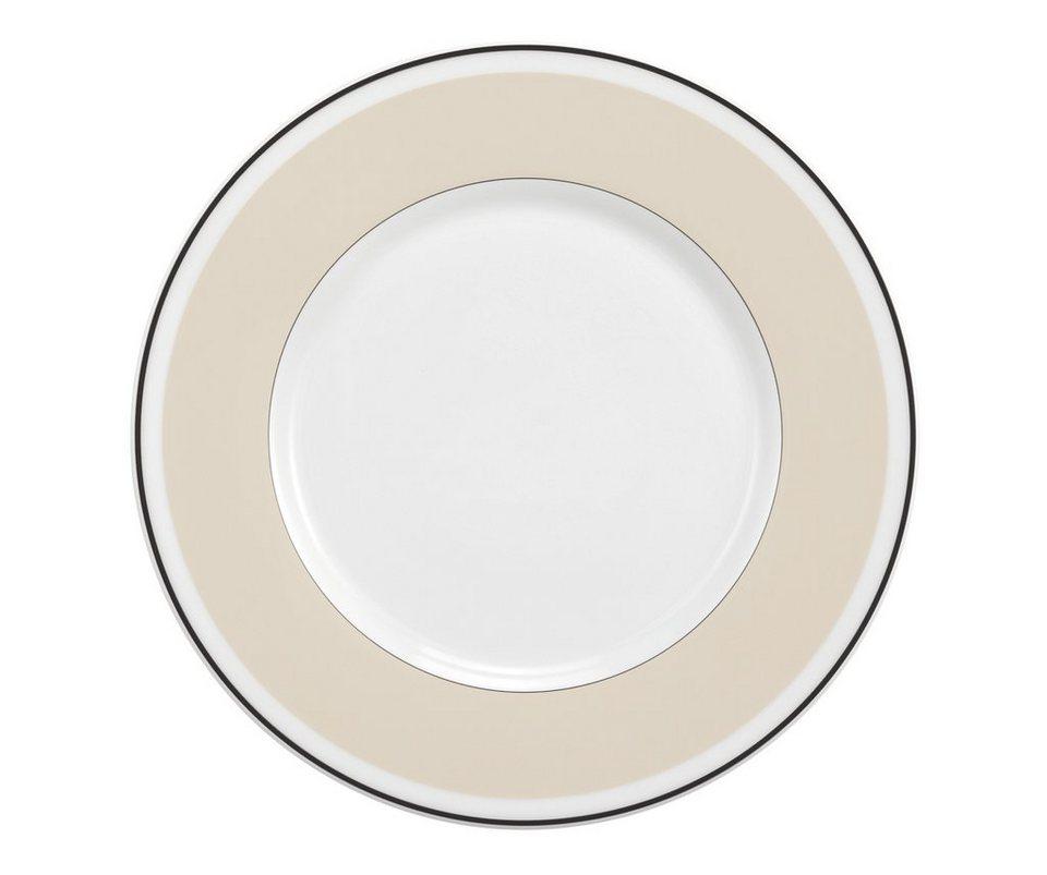 Seltmann Weiden Brotteller »No Limits Cream Lines« in Weiß, Creme
