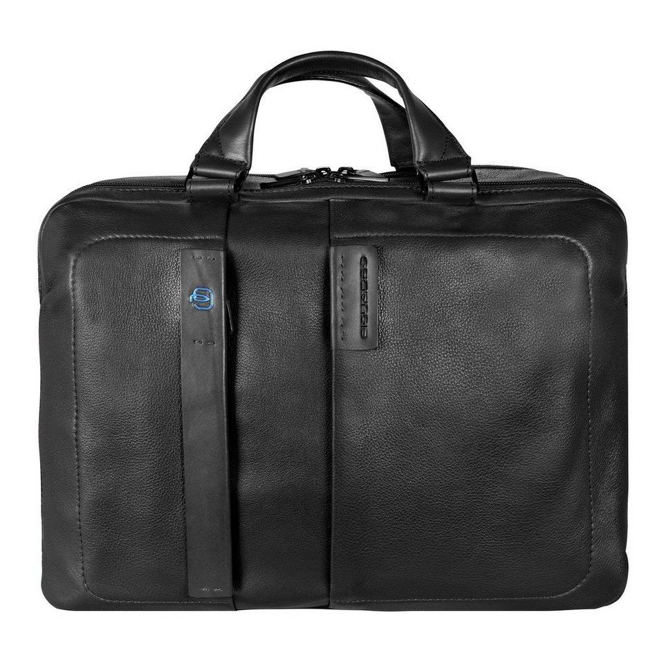 Piquadro Pulse Aktentasche Leder 41 cm Laptopfach in black