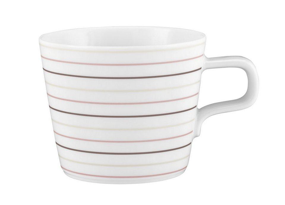 Seltmann Weiden Cappuccino-Teetasse »No Limits Cream Lines« in Weiß, Creme