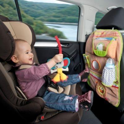 Babymoov Auto Rückenlehnentasche Löwe/Elefant in braun