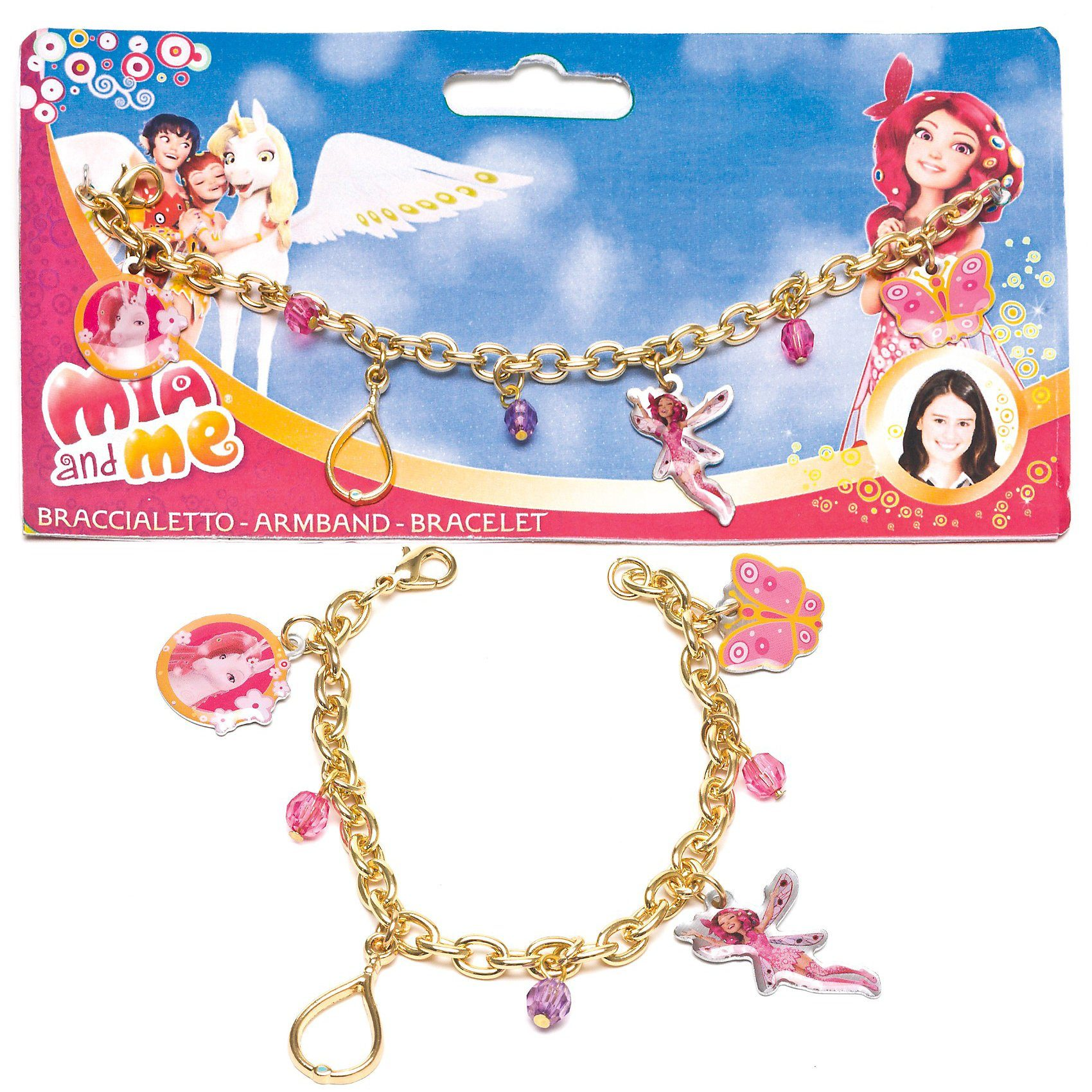 JOY TOY Armband mit Metallanhänger Mia & Me