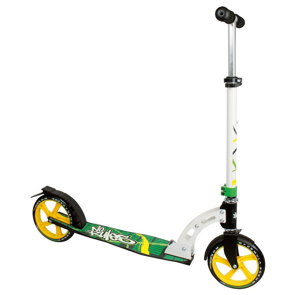 No Rules Scooter 205 mm schwarz/grün/gelb in grün