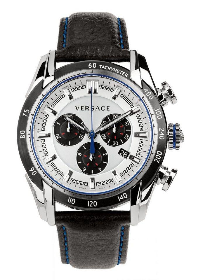 Versace Chronograph »V-RAY, VDB010014« in schwarz