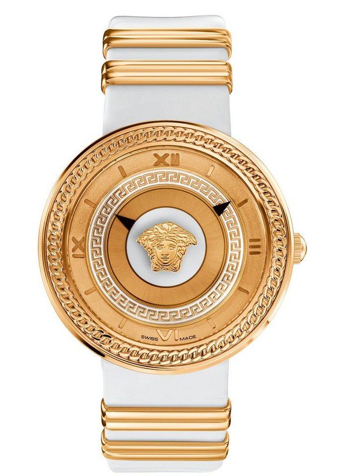 "Versace, Armbanduhr, ""V-METAL ICON, VLC040014"" in weiß"