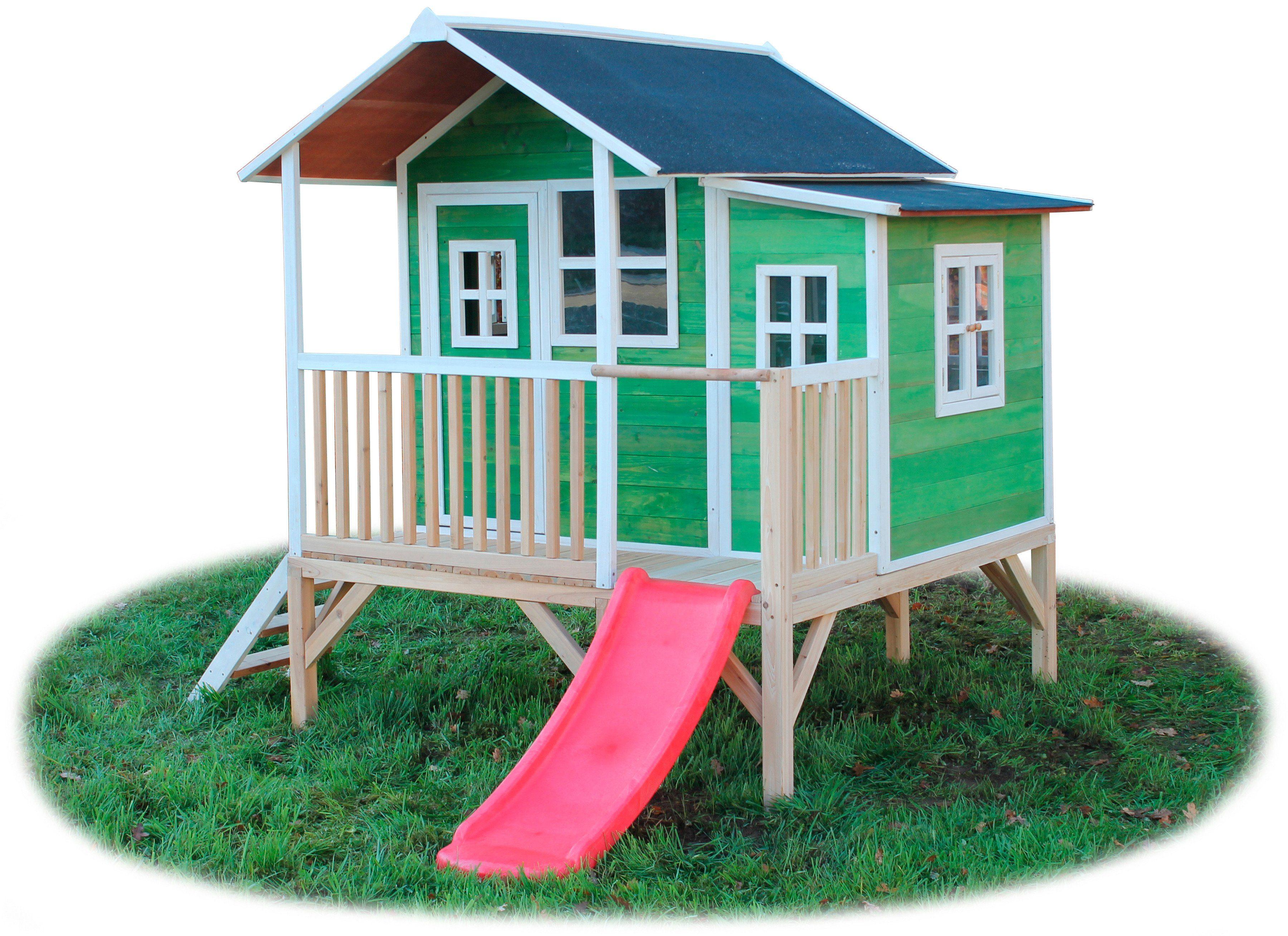Stelzenhaus »EXIT Loft 350 grün mit Veranda«
