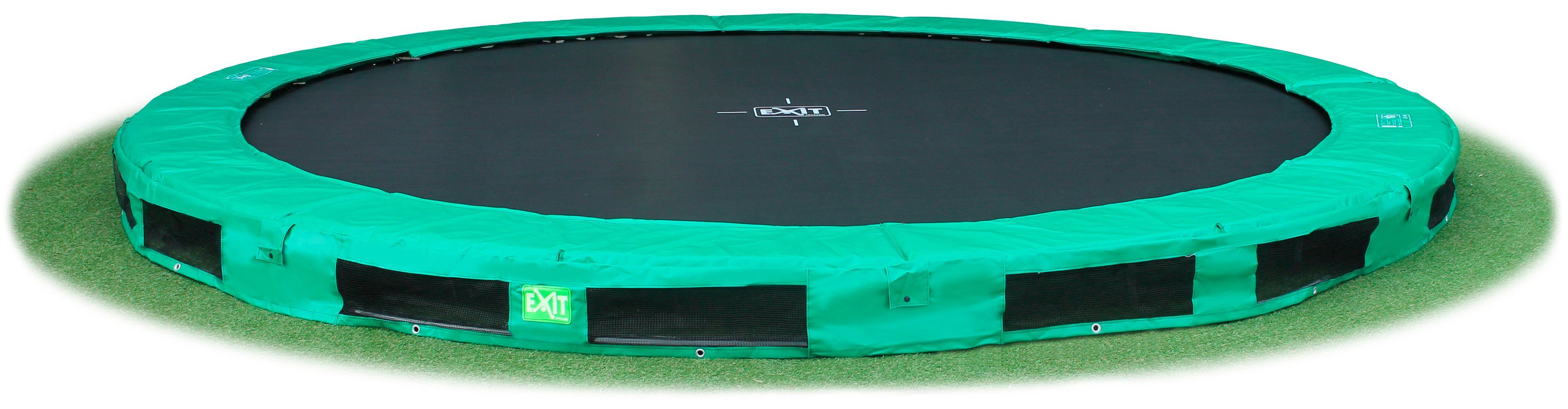 EXIT Trampolin »InTerra«, grün, Ø: 427 cm