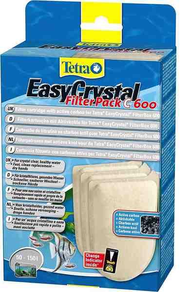 Filterkartusche »Tetra Easy Crystal Filter Pack 600« mit Aktivkohle, 2er Set