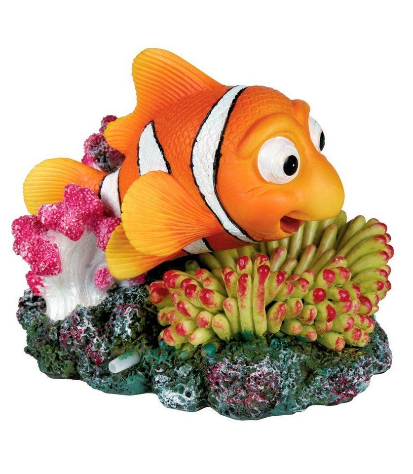 Aquariendeko »Clownfisch und Koralle mit Ausströmer« in orange