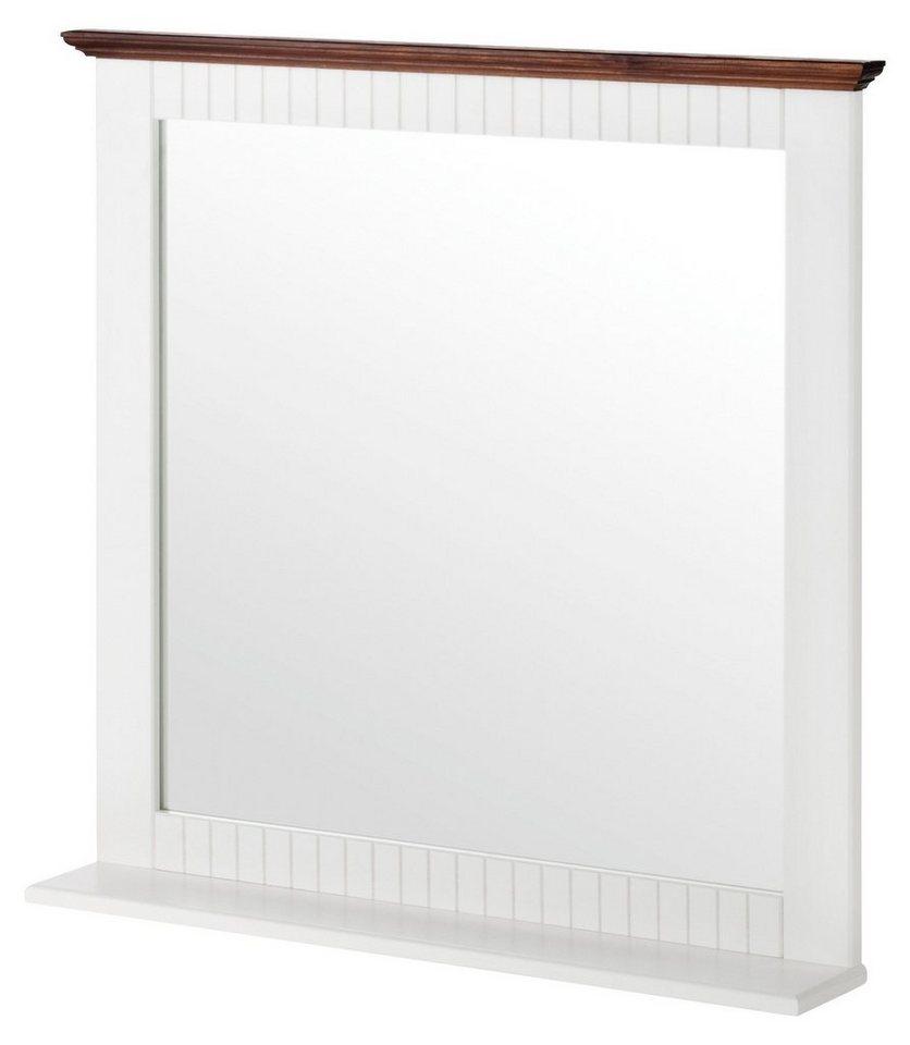 Spiegel / Badspiegel »Schweden« 64 cm, mit Ablage in braun, weiß, weiß