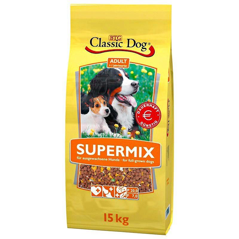 Hundetrockenfutter »Supermix«, 15 kg in braun