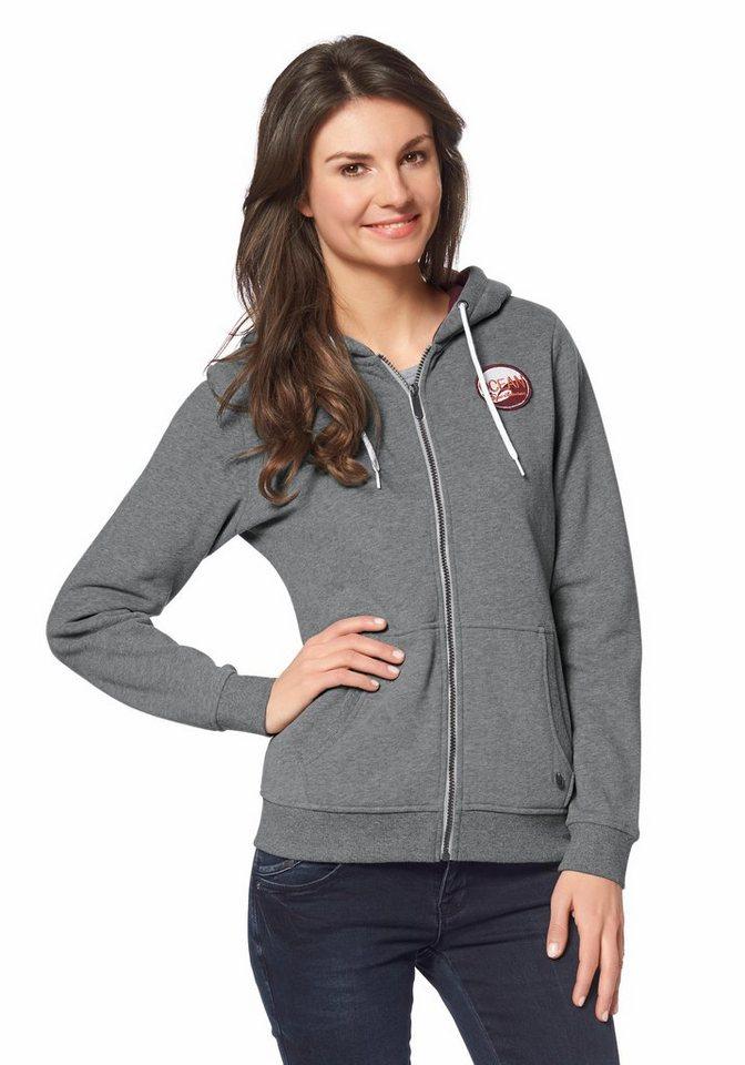 Ocean Sportswear Kapuzensweatjacke in Grau-Meliert