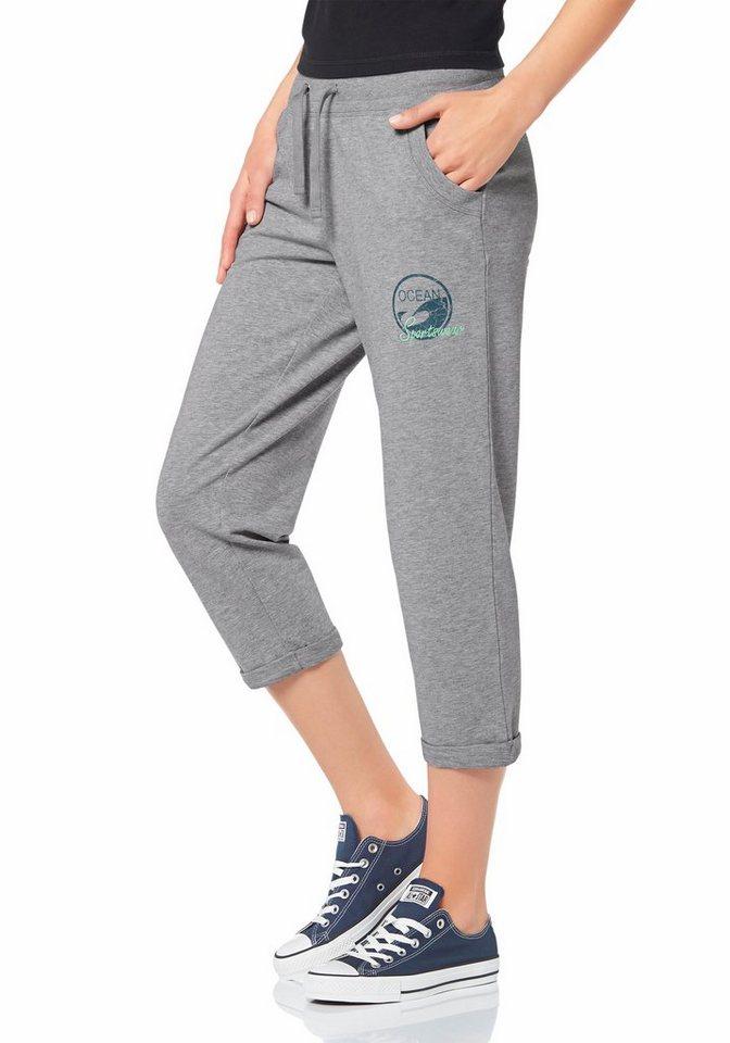 Ocean Sportswear 3/4-Sweathose in Grau-Meliert