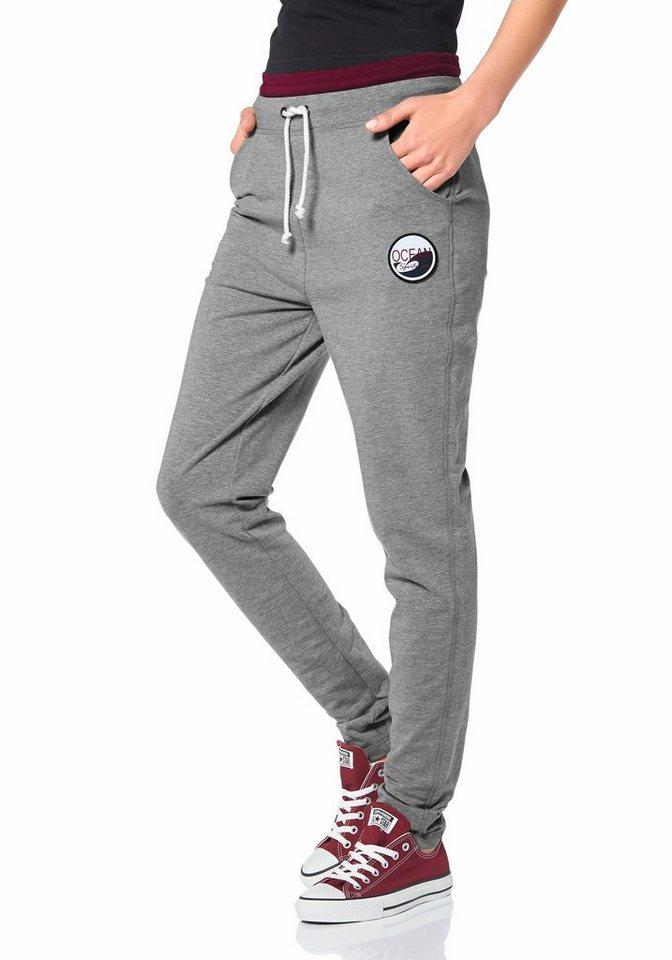 Ocean Sportswear Haremshose in Grau-Meliert