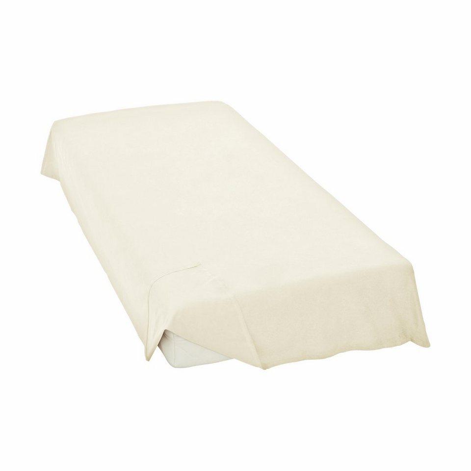 Bettlaken, Schlafgut, »Linon-Haustuch«, ohne Gummizug in ecru