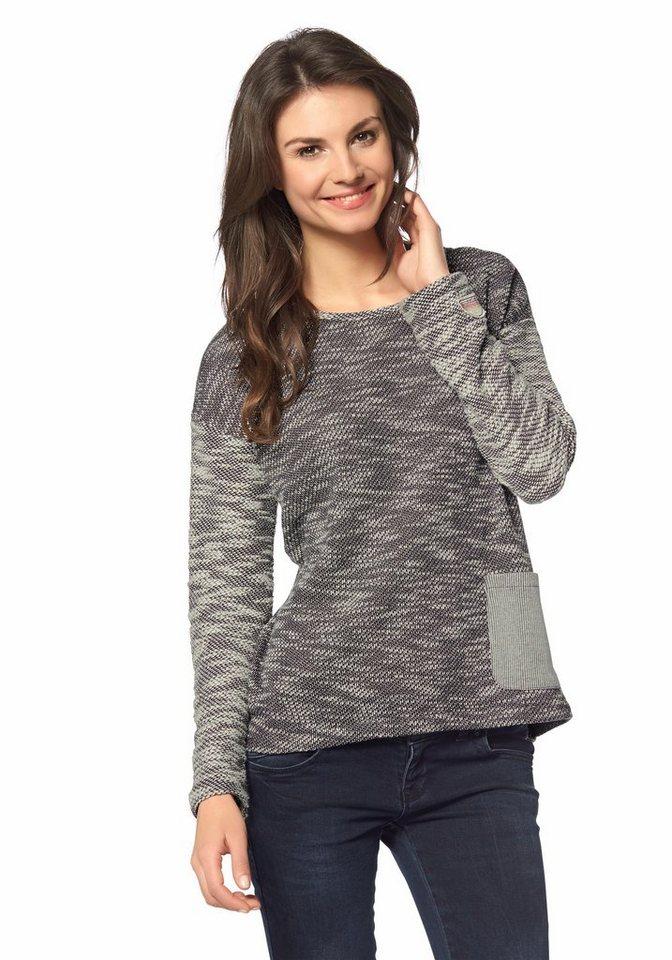 Roxy Pullover in Grau-Meliert