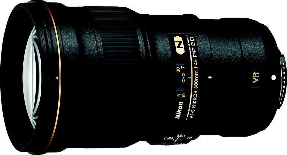 Nikon AF-S NIKKOR 300 mm 1:4E PF ED VR Tele Objektiv in schwarz