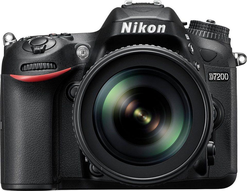 Nikon D7200 Kit Spiegelreflex Kamera, NIKKOR AF-S 18-105mm 1:3,5-5,6 G ED VR Zoom, 24,2 Megapixel in schwarz