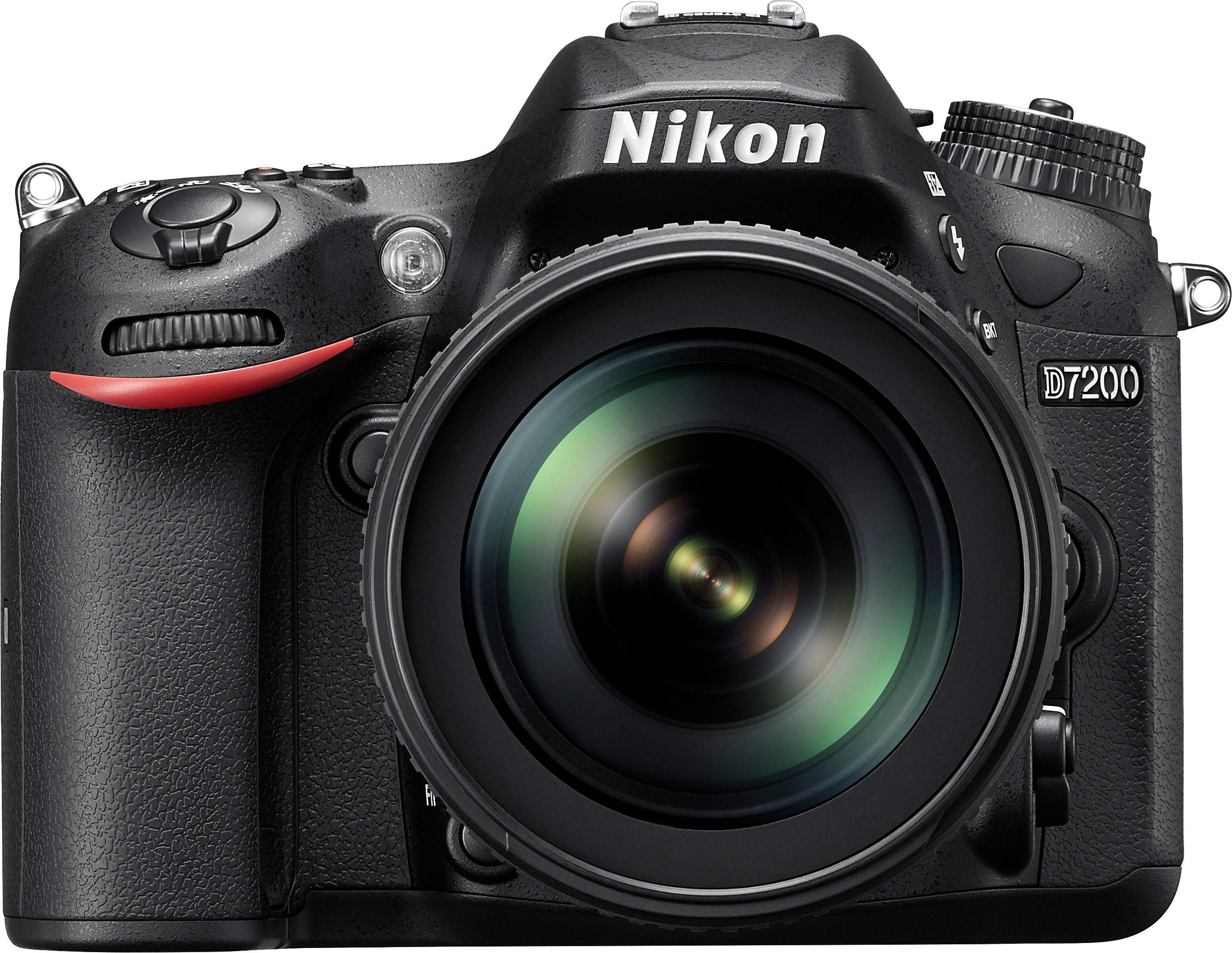 Nikon D7200 Kit Spiegelreflex Kamera, NIKKOR AF-S 18-105mm 1:3,5-5,6 G ED VR Zoom, 24,2 Megapixel