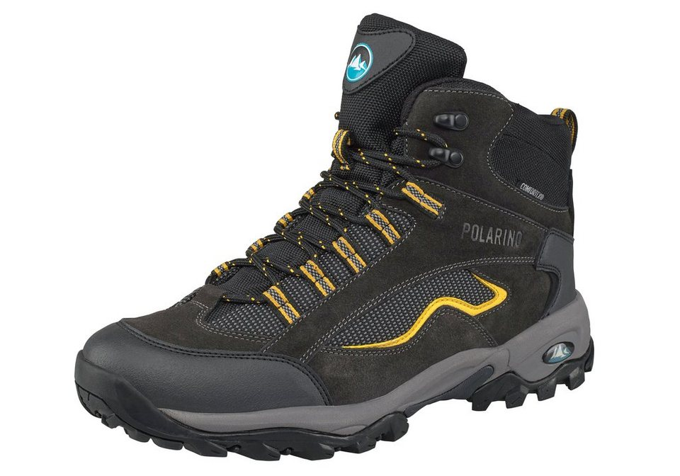 Polarino Visionary High Cut Outdoorschuh in Schwarz-Gelb