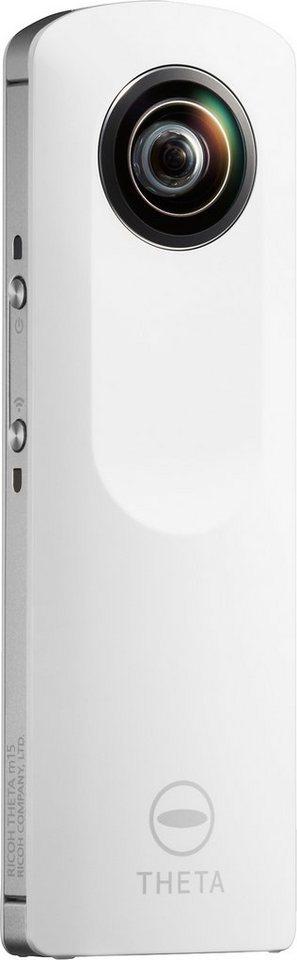 Ricoh Theta M15 Panorama Kamera, inkl. Tasche, Display in weiß