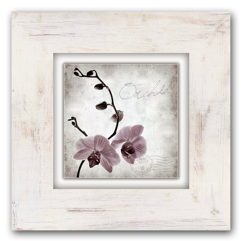 Holzbild, Home affaire, »Orchidee«, 40/40 cm