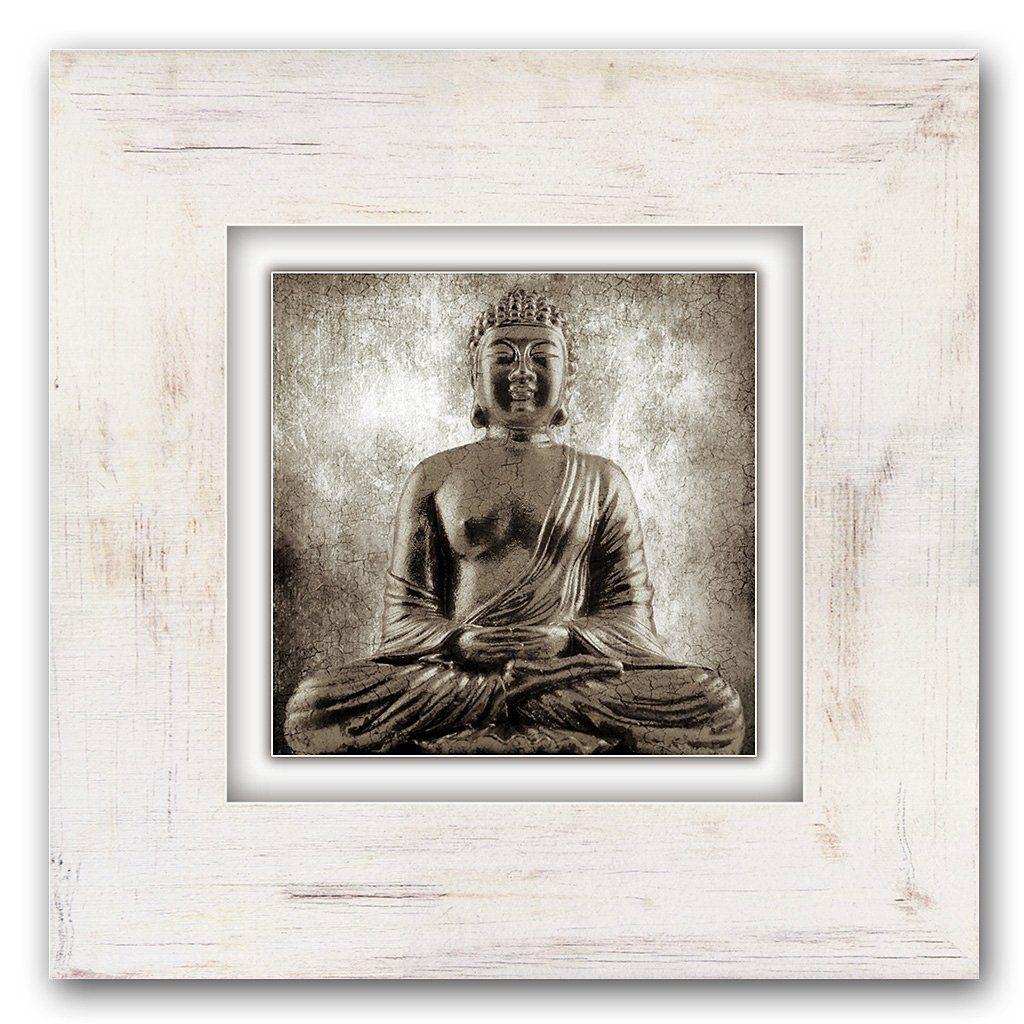 Holzbild, Home affaire, »Sitzender Buddha«, 40/40 cm