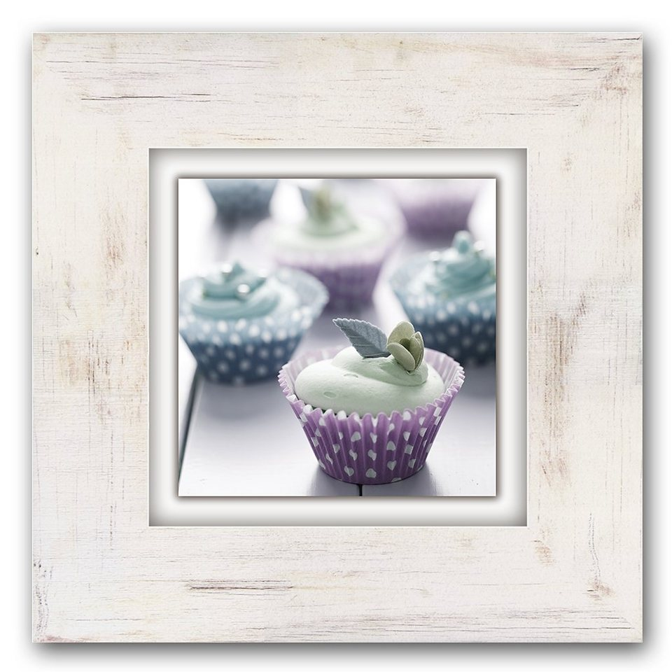 Holzbild, Home affaire, »Cupcakes«, 40/40 cm in beige/pastell