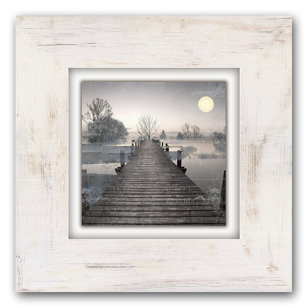 Holzbild, Home affaire, »Steg«, 40/40 cm