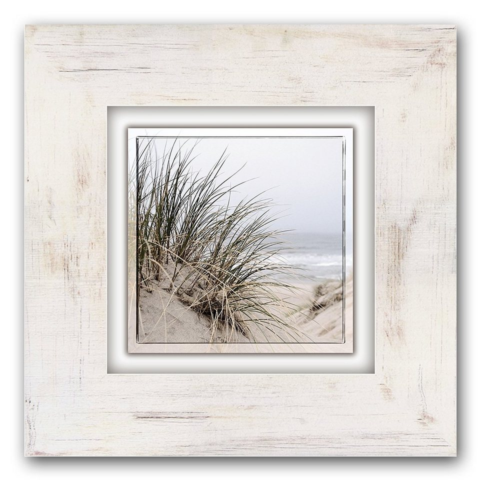 Holzbild, Home affaire, »Gräser am Strand«, 40/40 cm in beige
