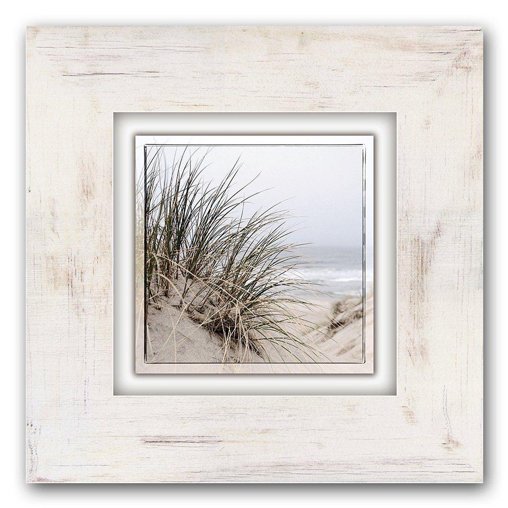 Holzbild, Home affaire, »Gräser am Strand«, 40/40 cm