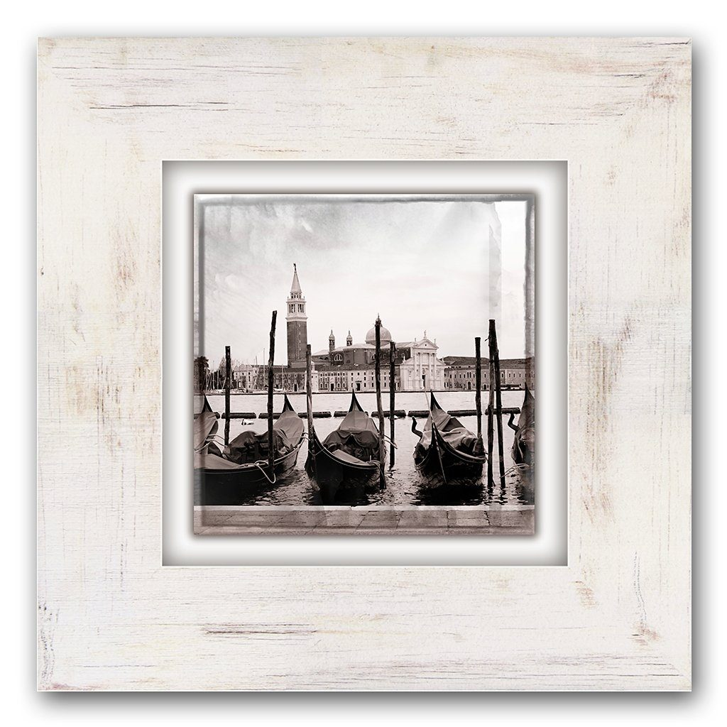 Holzbild, Home affaire, »Gondeln in Venedig«, 40/40 cm