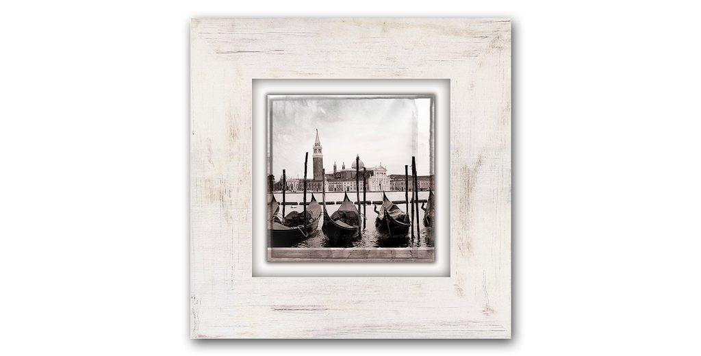 Holzbild, Home affaire, »Gondeln in Venedig«, 40/40 cm