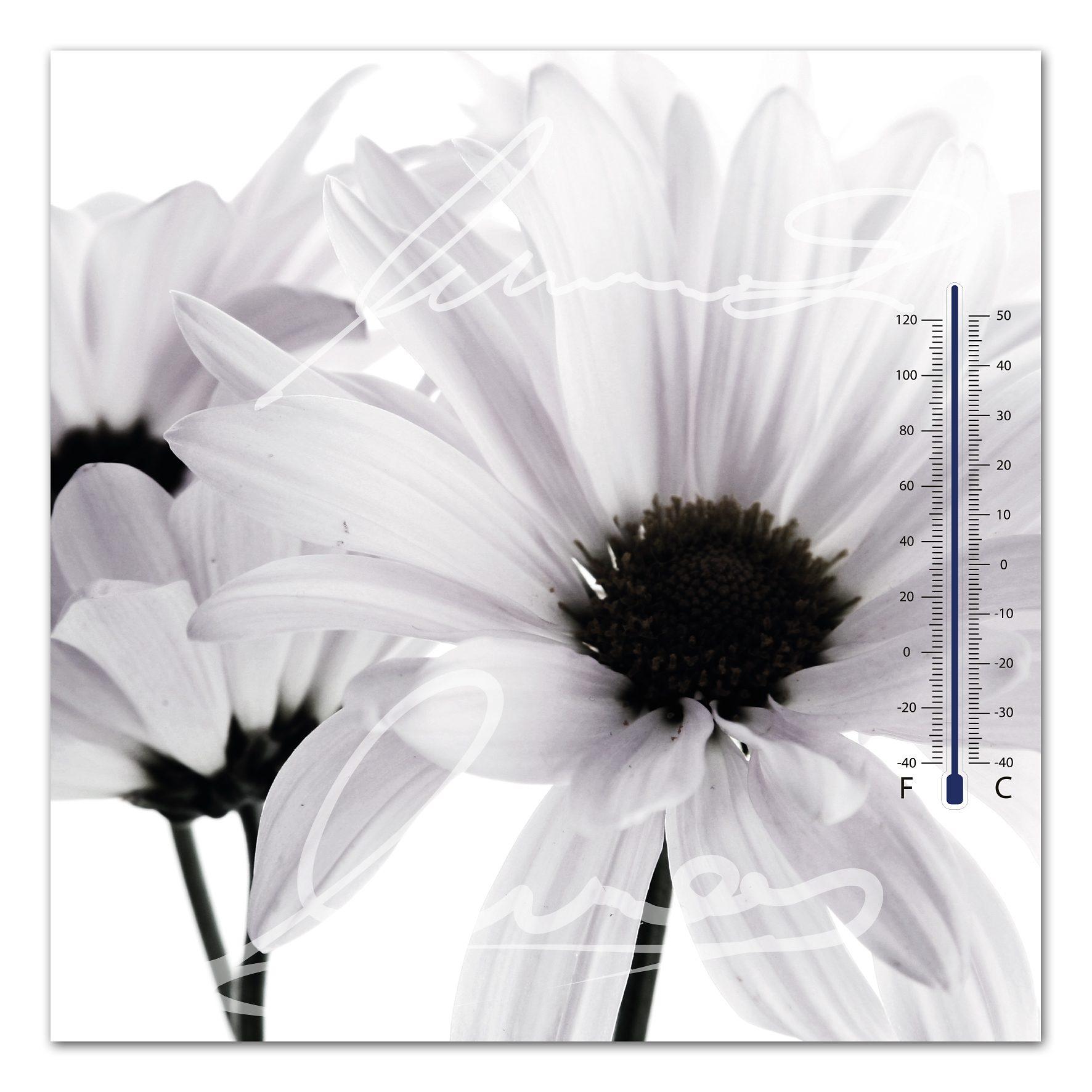 Thermometer Bild, Home affaire, »Weiße Blüte«, 30/30 cm