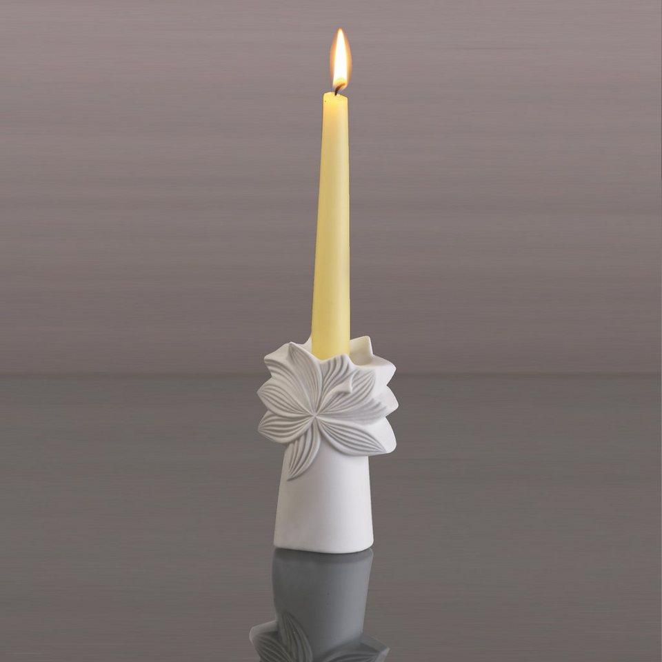 Kaiser Porzellan Leuchter »Palmkrone« in Weiß, Pastell