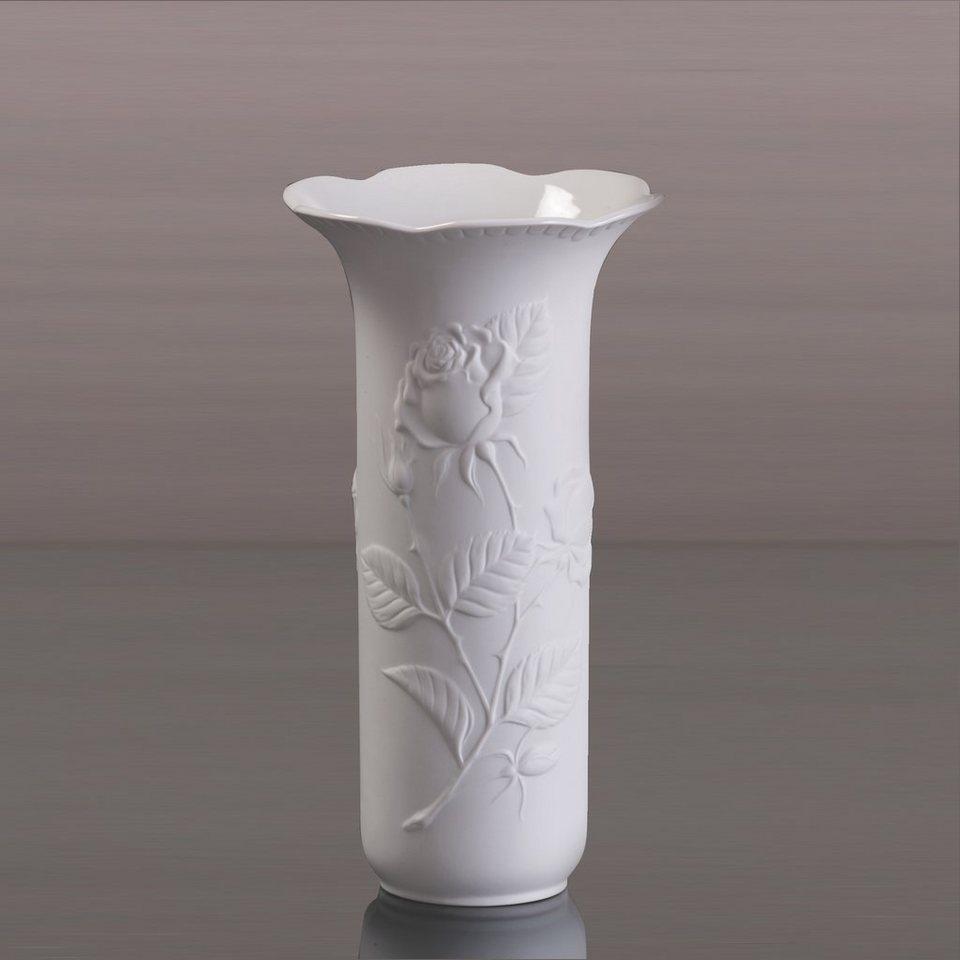 Kaiser Porzellan Vase »Rosengarten« in Weiß, Pastell