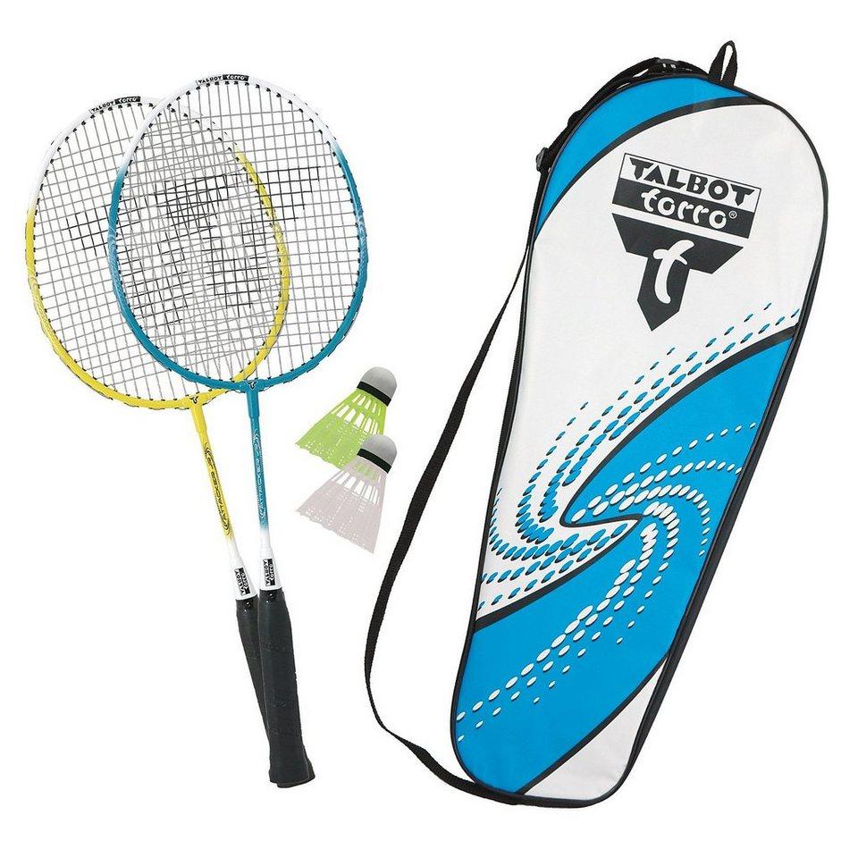 Talbot-Torro Badminton-Set Attacker Junior in blau