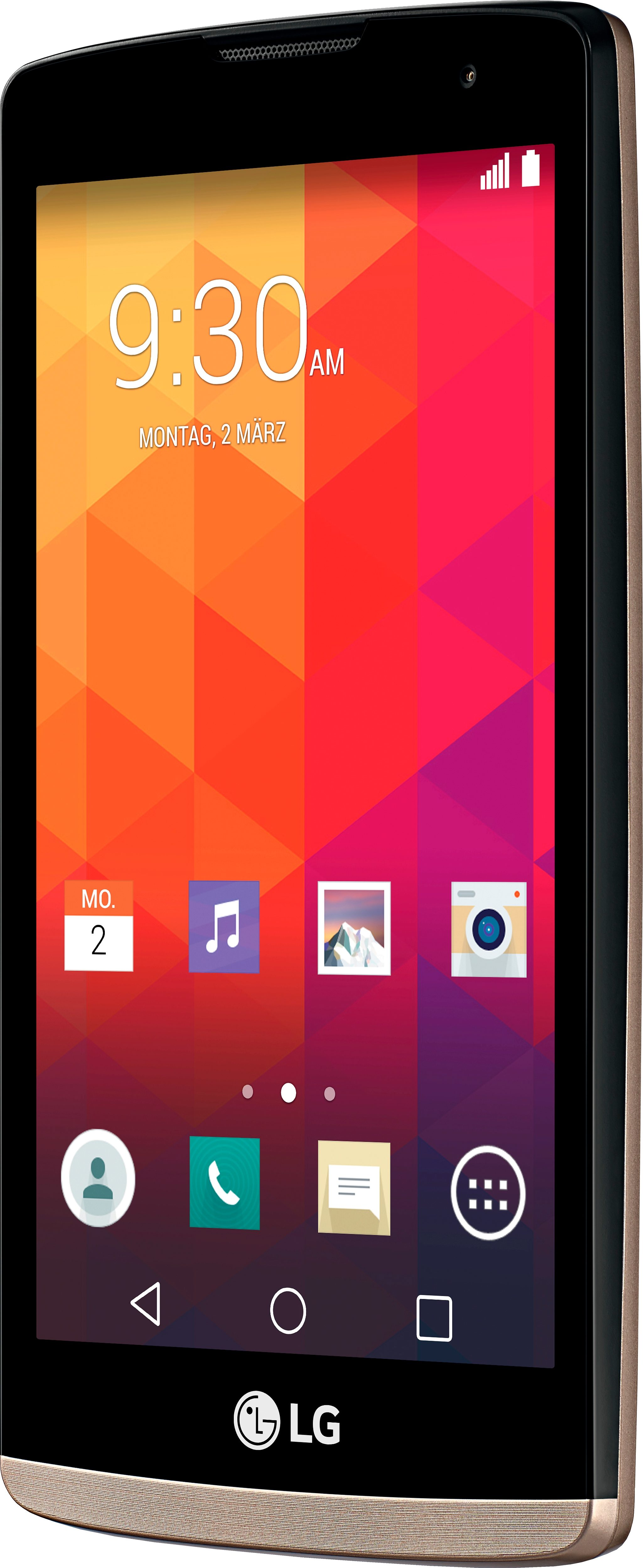 LG Leon LTE Smartphone, 11,4 cm (4,5 Zoll) Display, LTE (4G), Android 5.0, 5,0 Megapixel, NFC