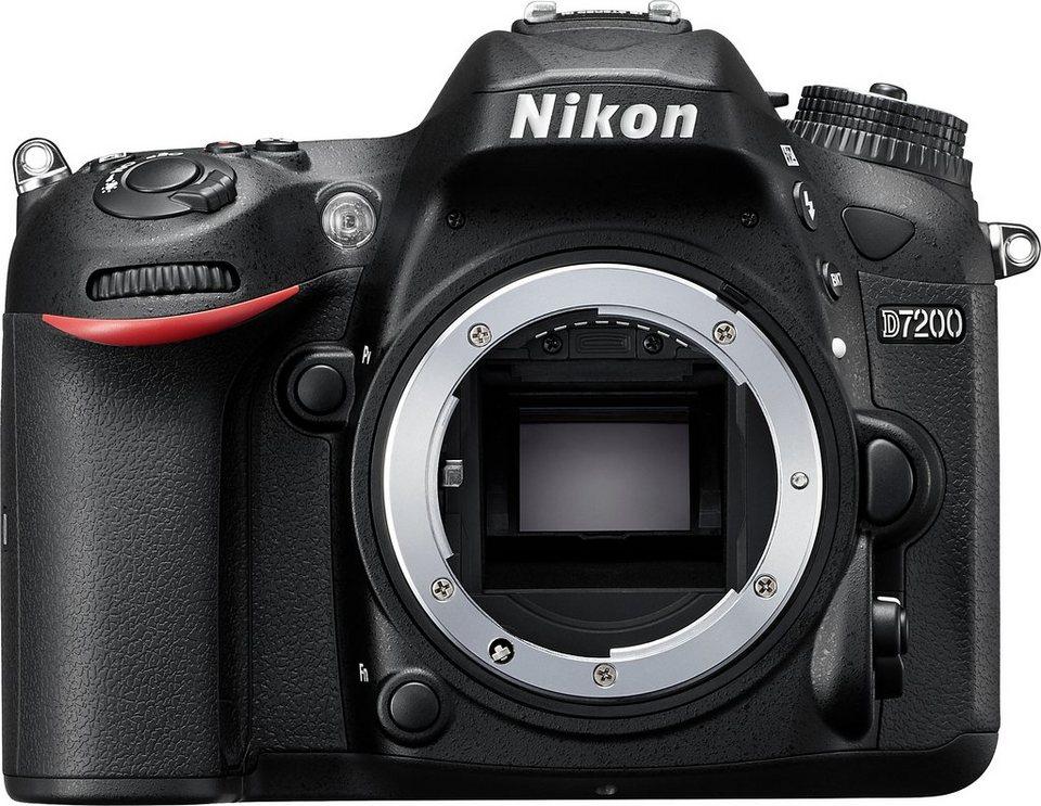 Nikon D7200 Body Spiegelreflex Kamera, 24,2 Megapixel, 8 cm (3,2 Zoll) Display in schwarz